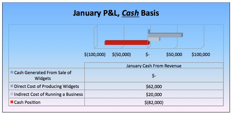 January P&L Cash Basis Graph